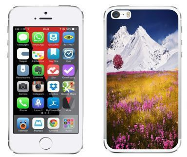 Apple iPhone 5 / 5S / SE - etui na telefon - Kolekcja widoki - łąka - G22