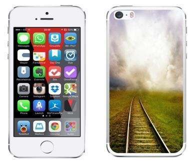 Apple iPhone 5 / 5S / SE - etui na telefon - Kolekcja widoki - tory - G20