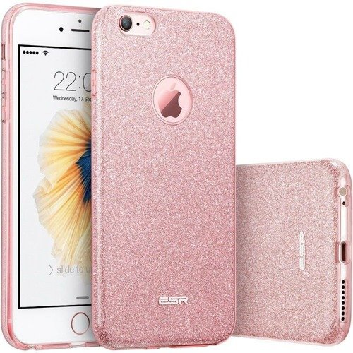 ESR Glitter Shine Rose Gold | Obudowa ochronna dla Apple iPhone 6 / 6S