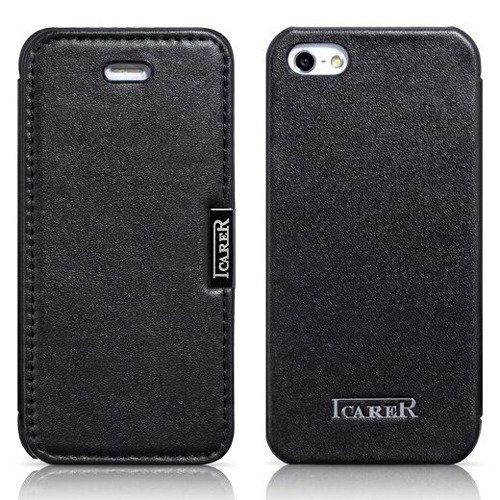 Etui ICARER Vintage Black | Apple iPhone 5S / SE