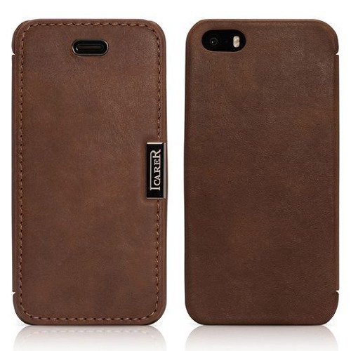 Etui ICARER Vintage Brown | Apple iPhone 5S / SE