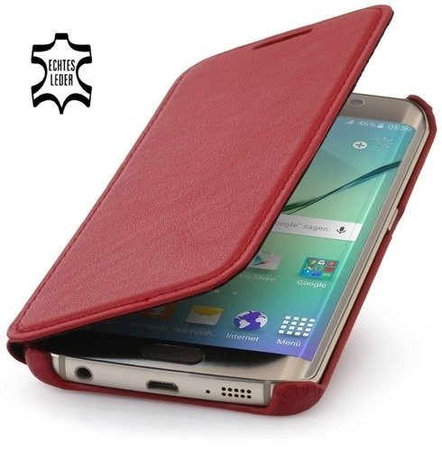 Etui Stilgut Book Samsung Galaxy S6 Edge Czerwone