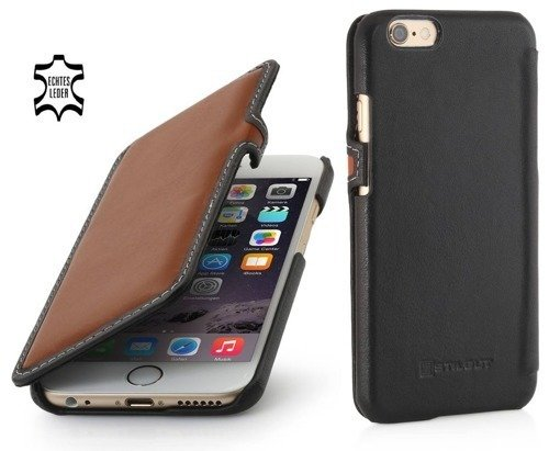 Etui Stilgut UltraSlim Book Apple iPhone 6/6S Brązowo-Czarne