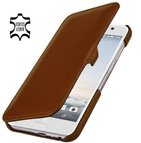 Etui Stilgut UltraSlim Book HTC One A9 Koniakowe