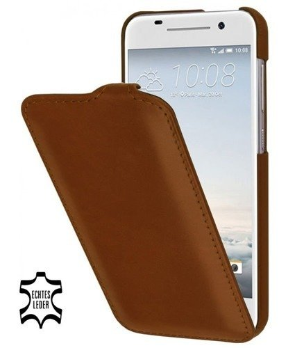 Etui Stilgut UltraSlim HTC One A9 Koniakowe