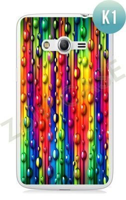 Etui Zolti Ultra Slim Case - Samsung Galaxy Core LTE - Colorfull - Wzór K1