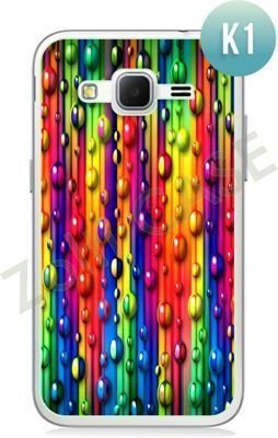 Etui Zolti Ultra Slim Case - Samsung Galaxy Core Prime - Colorfull - Wzór K1