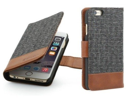 Etui z klapką StilGut Talis Fashion 01 - koniakowe - iPhone 6 Plus