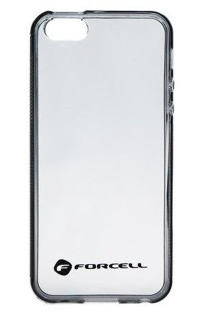 Forcell Clear Case Czarny | Obudowa plecki dla modelu Apple iPhone 5 / 5S / SE