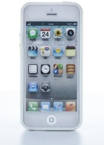 Geffy - Etui bumper iPhone 5/5S TPU/PVC white