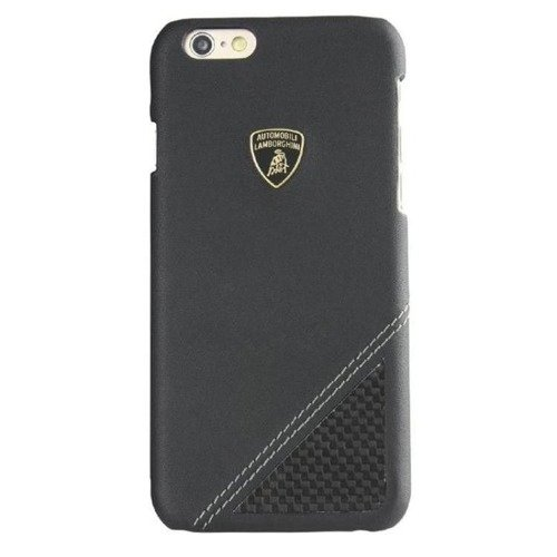 Lamborghini Aventador D6 - Etui skórzane iPhone 6 Plus (Real Carbon)