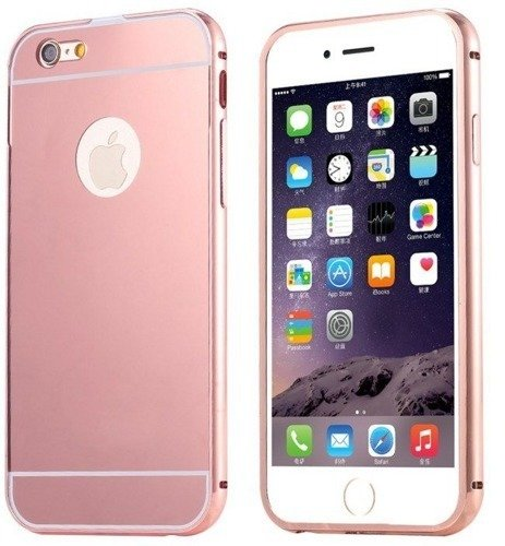 Mirror Bumper Metal Case Różowy | Etui dla Apple iPhone 6 / 6S