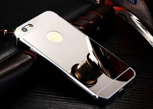 Mirror Bumper Metal Case Srebrny | Etui dla Apple iPhone 6 / 6S