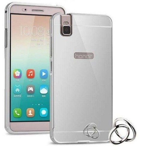 Mirror Bumper Metal Case Srebrny | Etui dla Huawei Honor 7i / Shot X