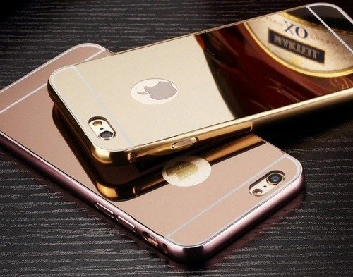 Mirror Bumper Metal Case Złoty | Etui dla Apple iPhone 6 / 6S