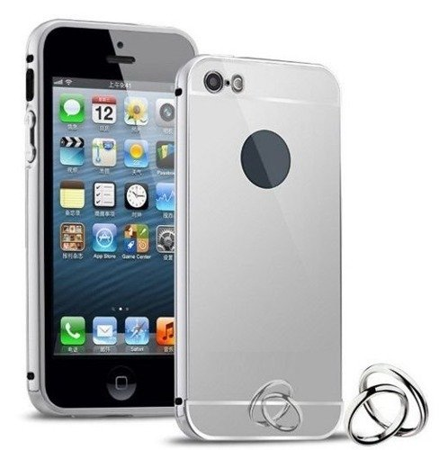 Obudowa Bumper Metal Mirror Case Apple iPhone 5 / 5S / 5SE - Srebrna