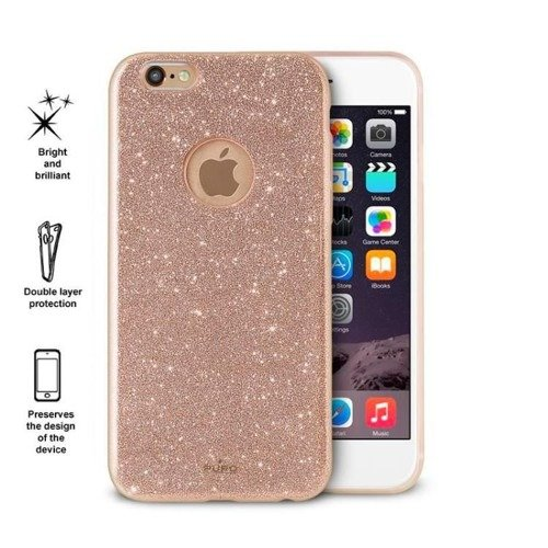 Obudowa PURO Glitter Shine Cover Apple iPhone 6 / 6S Złoty