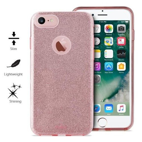 Obudowa PURO Glitter Shine Cover Apple iPhone 7 Różowy
