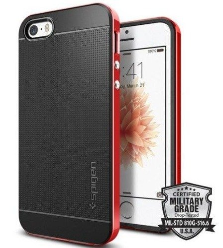 Obudowa Spigen Neo Hybrid Carbon Apple iPhone 5 / 5S / SE Dante red