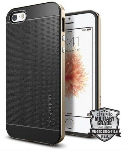Obudowa Spigen Neo Hybrid Carbon Apple iPhone 5 / 5S / SE Gold