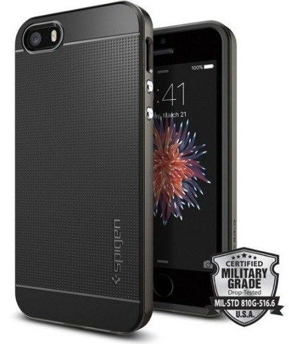 Obudowa Spigen Neo Hybrid Carbon Apple iPhone 5 / 5S / SE Gunmetal
