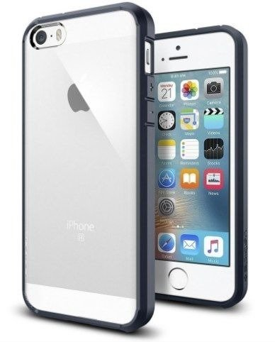 Obudowa Spigen SGP Ultra Hybrid Metal Slate dla Apple iPhone 5 / 5S / SE