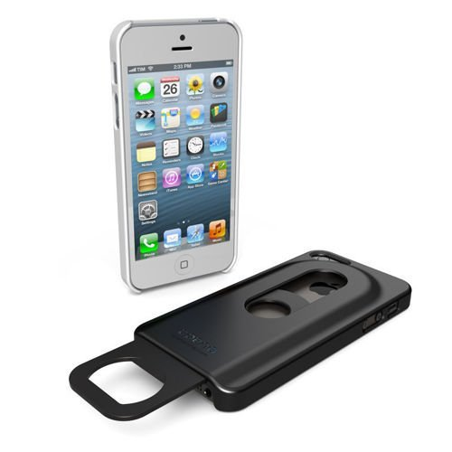 Obudowa iPhone 5 5S SE - czarna - Opena bottle opener & protection case