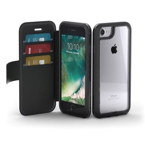 Obudowa z klapką i z kieszeniami na karty Griffin Survivor Adventure Wallet Apple iPhone 6 / 6S / 7 Czarny