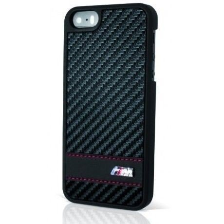 Oryginalna obudowa BMW M Collection Carbon Effect Stripe Cover - czarna - iPhone 5 5S