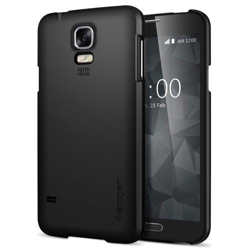 Oryginalna obudowa etui Spigen SGP Ultra Fit Smooth Black Samsung Galaxy S5