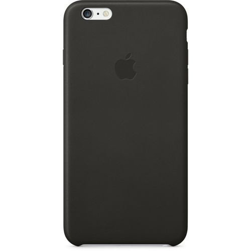 Oryginalna skórzana obudowa Apple MGQX2ZM/A Leather Case - czarna - iPhone 6 Plus/6S Plus