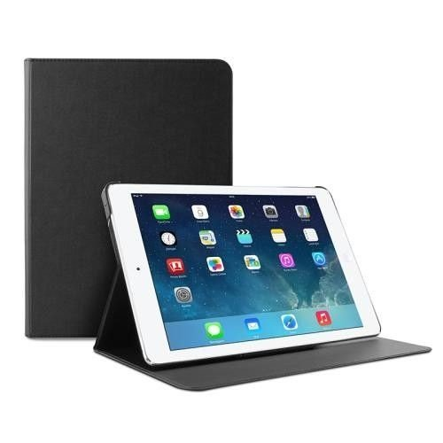 PURO Booklet Slim Case - Etui iPad Air 2 w/Magnet & Stand up (czarny)