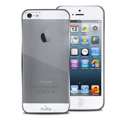PURO Mirror Cover - Etui iPhone 5 5S (srebrny)