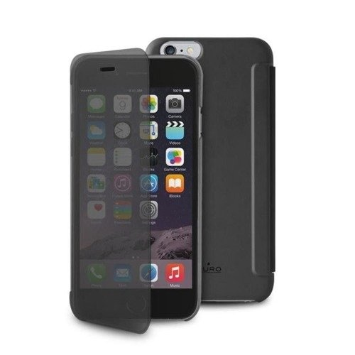 PURO Sense Case - Etui iPhone 6 Plus w/Quick View & Answer (czarny)