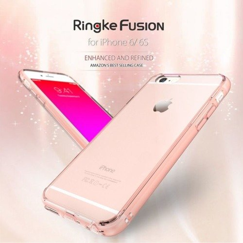 Rearth Ringke Fusion Rose Gold + Folia | Etui dla Apple iPhone 6 Plus / 6S Plus