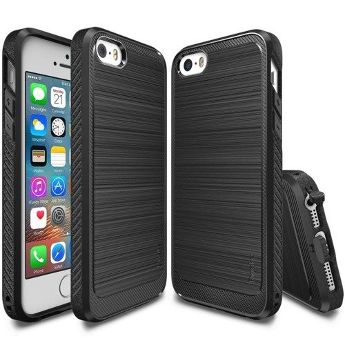 Rearth Ringke Onyx Black | Obudowa + folia ochronna dla modelu Apple iPhone 5 / 5S / SE