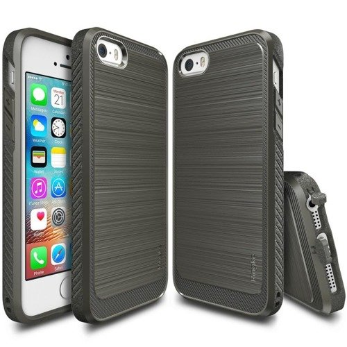 Rearth Ringke Onyx Gray | Obudowa + folia ochronna dla modelu Apple iPhone 5 / 5S / SE