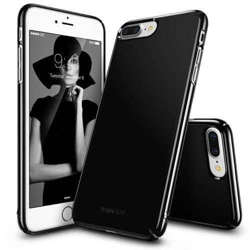 Rearth Ringke Slim Gloss Black | Obudowa + folia ochronna dla modelu Apple iPhone 7 Plus