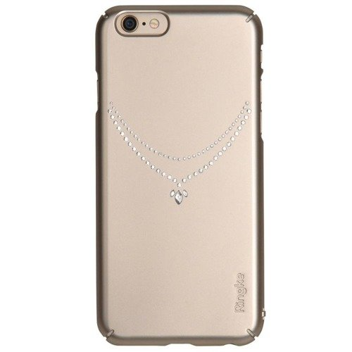 Rearth Ringke Slim Noble Necklace Royal Gold | Obudowa ochronna z kryształkami Swarovskiego dla modelu Apple iPhone 6 / 6S
