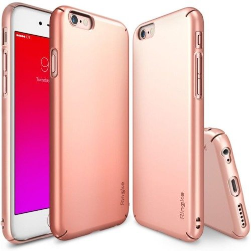 Rearth Ringke Slim Rose Gold | Obudowa + folia ochronna dla modelu Apple iPhone 6 / 6S