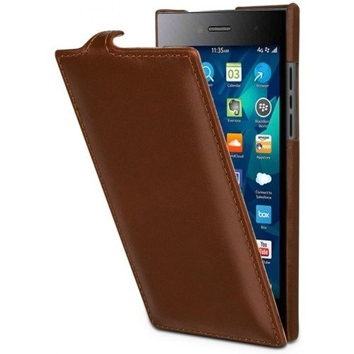 Skórzane etui Stilgut UltraSlim Blackberry Leap Cognac