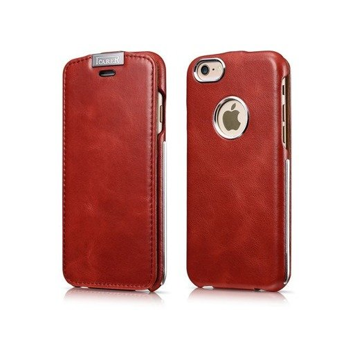 Skórzane etui iCarer Warrier Vintage Red | Apple iPhone 6 / 6S