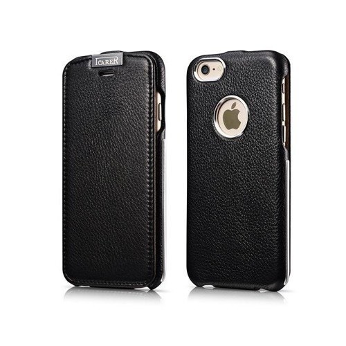 Skórzane etui iCarer Warrior Classic Black | Apple iPhone 6 / 6S