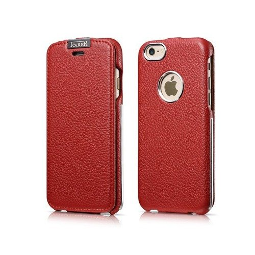 Skórzane etui iCarer Warrior Classic Red | Apple iPhone 6 / 6S