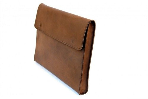 Skórzany pokrowiec TECH-PROTECT Barellybags Brown | Apple MacBook Air / Pro 13 - Brązowy