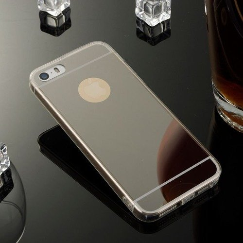 Slim Mirror Case Czarny | Etui dla Apple iPhone 5 / 5S / SE