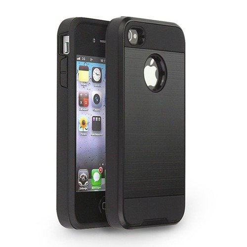 Tech-Protect Hybrid Armor Black | Obudowa ochronna dla modelu Apple iPhone 4 / 4S