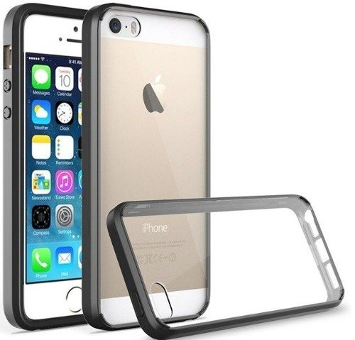 Tech-Protect Slim Hybrid Black | Obudowa dla Apple iPhone 5 / 5S / 5SE