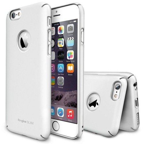 Zestaw Rearth - Obudowa Ringke Slim White + folia na ekran Apple iPhone 6 / 6S