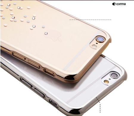 Comma Polka Swarovski Element Champagne Gold | Etui dla modelu Apple iPhone 6 / 6S